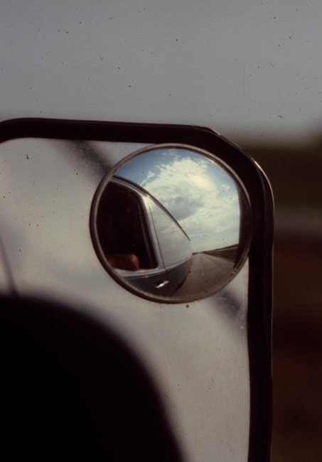 Reflection in the mirror, August 1980