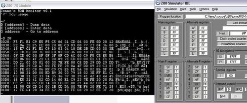 VT100 emulation for Z80 Simulator IDE – Jamtronix
