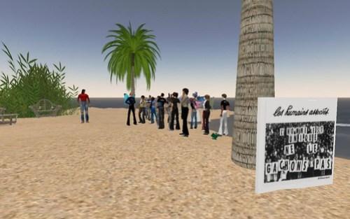 Inauguration Ile Verte sur la plage