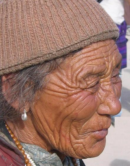 Old Woman Ladakhi