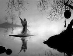 Charon crossing the river Styx