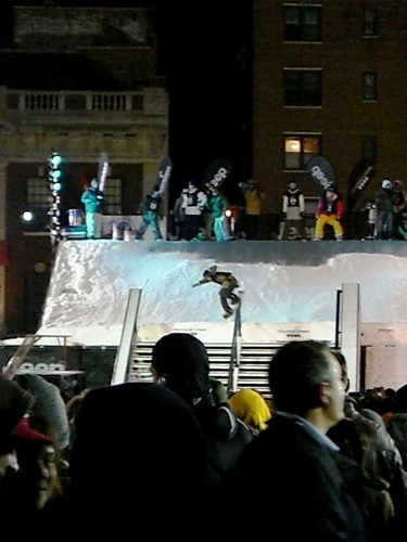 Snowboarding In The City