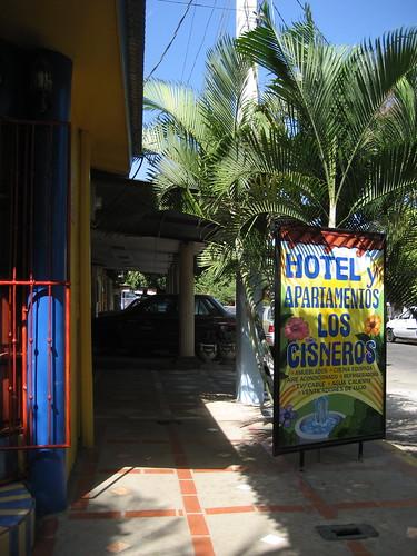 front door of the hotel