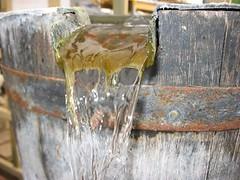 water barrel flowing