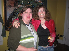 Steph and me in front of tree