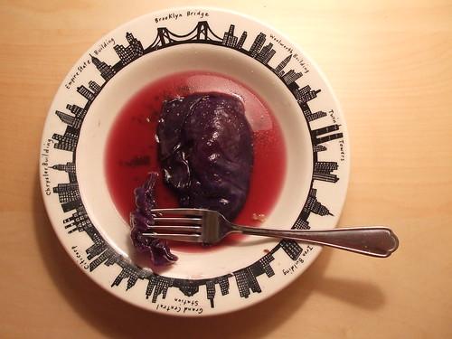 beer-braised cabbage