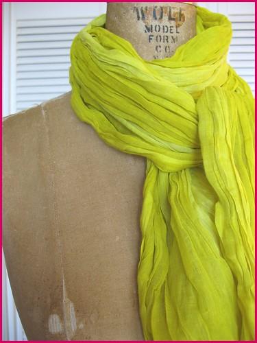 acid yellow cotton scarf