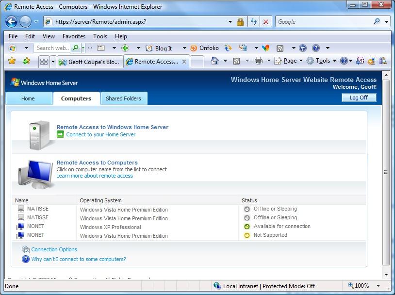 Windows Home Server screenshot 3