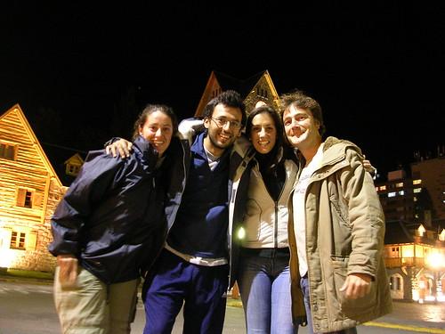 Caroline, Arturo, Gemma y yo en el Centro Civico