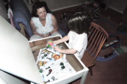 Alex and her school desk
