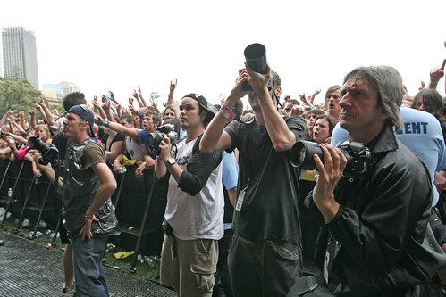 The photo pit