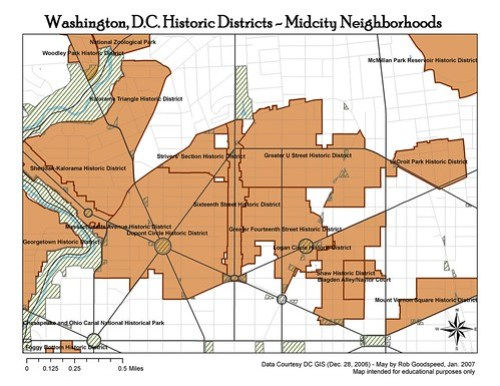 Washington, D.C. Historic Districts - Midcity Neighborhoods