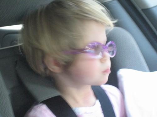 Sometimes she looks like an angst-ridden rock star