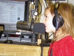 Persephone on-air with Marla BB at WXOJ-LP.