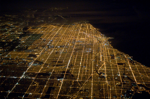 Chicago at night, from 36,000 feet by myelectricsheep