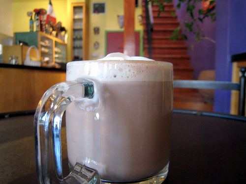 Mexican hot chocolate at Zona Rosa