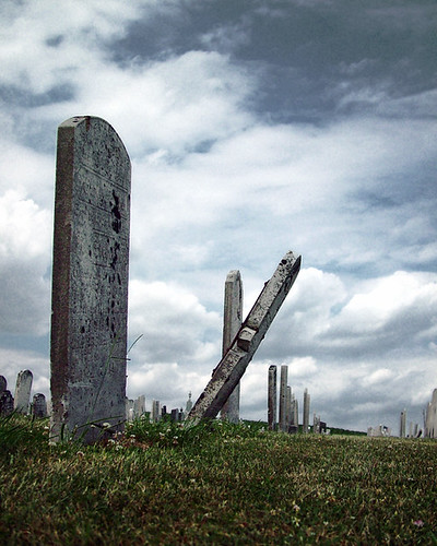 Leaning Tombstone by eqqman