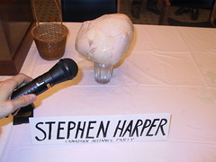 The frozen turkey that stood in for Stephen Harper at federal by-election forum in Calgary