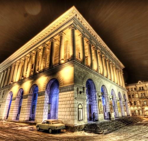 A Snowy Night at the Kiev Opera House