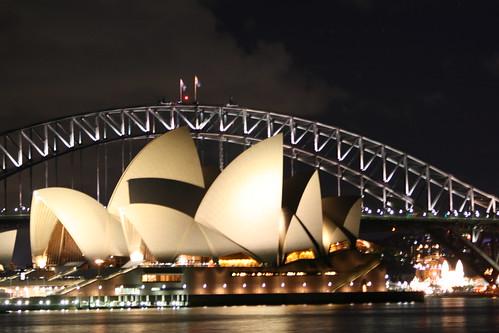 Opera House de noche