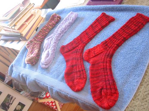 The Beast socks drying