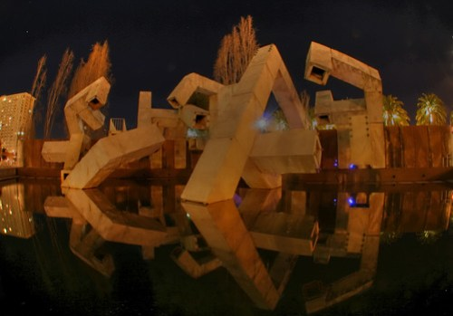 puzzlement (vaillancourt fountain at night - HDR) by ehoyer