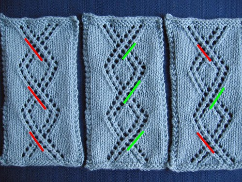 cable-twist lace compare highlighted