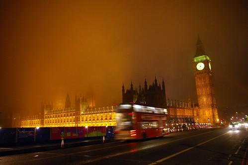 Night bus in London