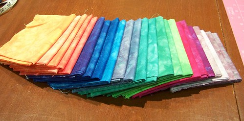 Fabric Dyeing - Rainbow and some of my own creations
