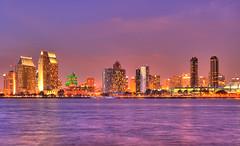 San Diego Night Skyline HDR