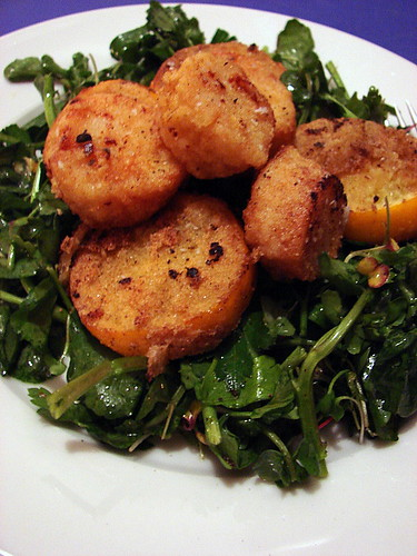 cornmeal crusted scallops