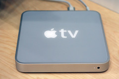 Apple TV top and front