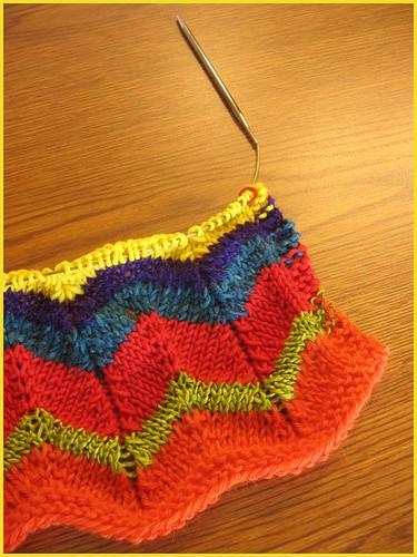 knitted zig zag scarf