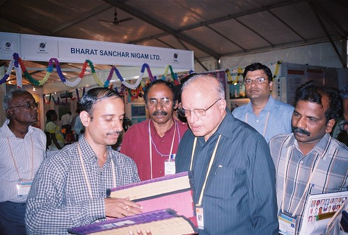 Dr M S Swamynathan, appreciating the craft+technology aspect of the paper file tracking system