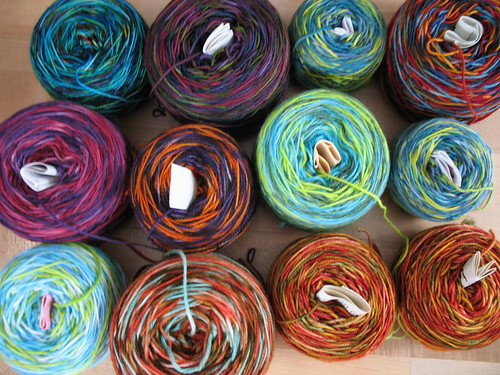 Sock yarn winding party