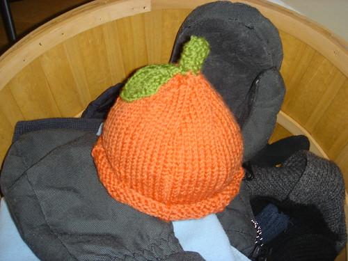 pumpkin baby hat