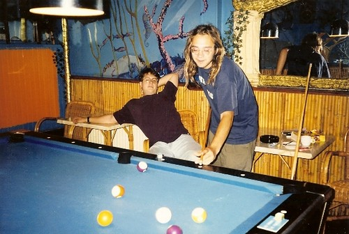 Playing Pool at the Dolphin's Smile