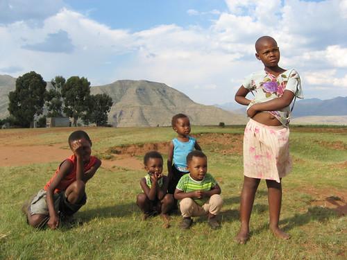 Kids in Malealea, Lesotho