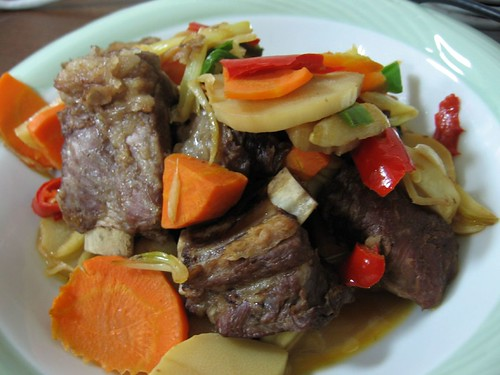 pork and carrots