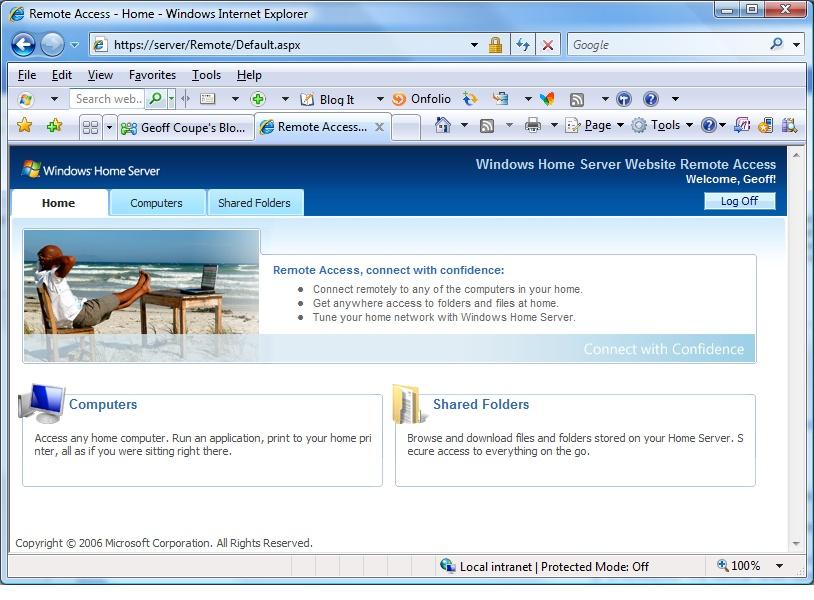 Windows Home Server screenshot 2