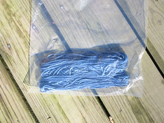 the remaining yarn