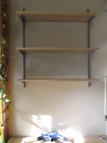 Shelves in Kitchen