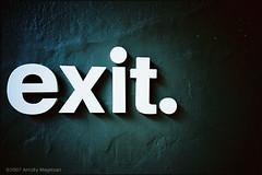 exit.