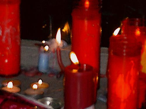 Velas por los asesinados el 11-3-2004