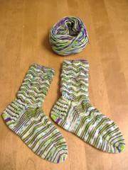 L&V KAL Socks Finished