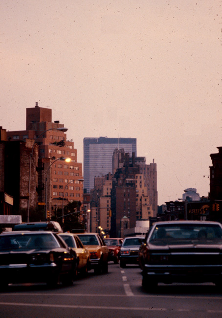 View south down 7th Avenue(?), New York, July 1980.