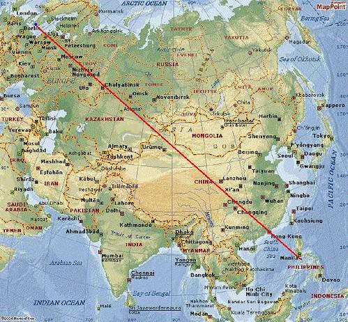Map of flight