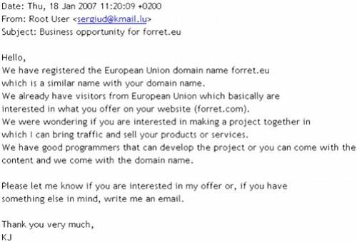 .EU domains businessmodel