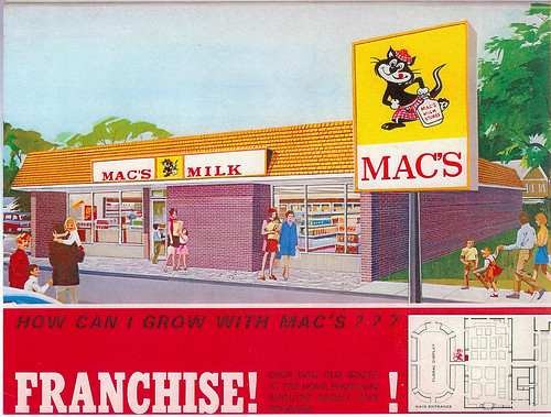 An early Macs Milk outlet, with that crazy tam-wearing cat