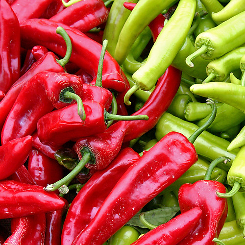 Red Green Chili Peppers by svenwerk